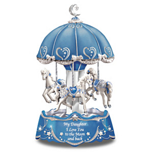 Daughter Carousel Music Box With Lights And Motion