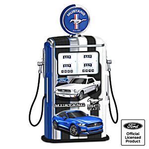 """""""Fueled For Speed"""" Ford Mustang Lighted Gas Pump"""