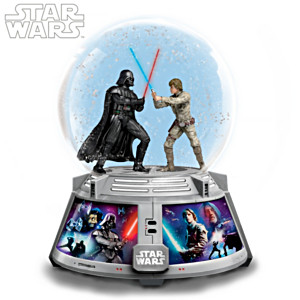 "STAR WARS ""Forces Of Light & Dark"" Lit Musical Glitter Globe"