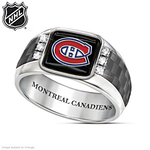 Montreal Canadiens® Men's Carbon Fiber Ring