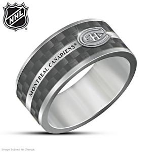 Canadiens® Tungsten Men's Spinning Ring
