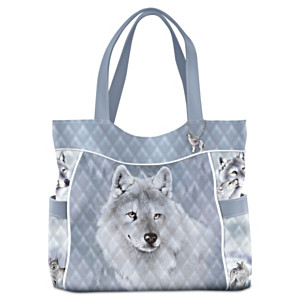 """Eddie LePage """"Silver Sovereign"""" Women's Quilted Tote Bag"""