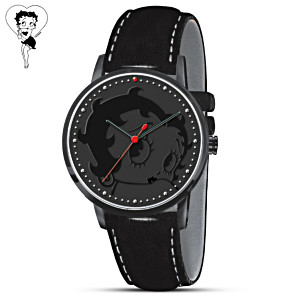 Betty Boop Tone-On-Tone Men's Watch With Leather Band