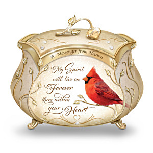 James Hautman Cardinal Heirloom Porcelain Music Box