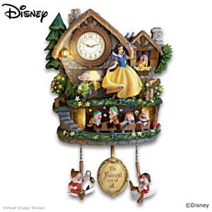 Disney Snow White Illuminated Wall Clock With Motion