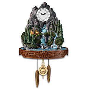 """Call Of The North"" Lighted Wall Clock With Motion And Sound"