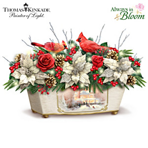 "Thomas Kinkade ""Treasures Of The Season"" Lighted Centrepiece"