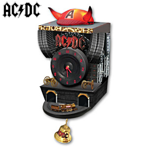 AC/DC Illuminated Wall Clock with Sound and Motion
