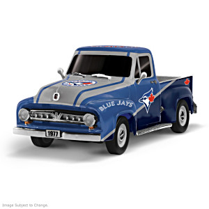 1:36-Scale Blue Jays 1953 Ford Truck Sculpture
