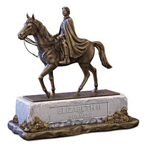 """Queen Elizabeth II """"Equestrian Majesty"""" Sculpture"""