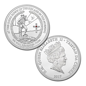 2017 Annual Remembrance Day Five Crowns Coin And Display Box