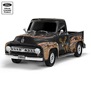 """""""Thrill Of The Wild"""" 1953 Ford F100 Sculpture With Deer Art"""