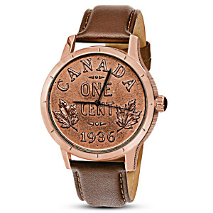Replica 1936 Canadian Dot Penny Men's Rose-Gold Finish Watch