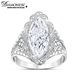 """Duchess"" Diamonesk Ring Inspired By Royal Lace Fashions"