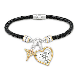 Braided Bracelet With 18K Gold-Plated Charms Honours Nurses