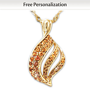 """Flame Of Remembrance"" Personalized Pendant Necklace"