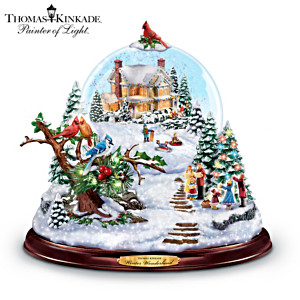 Thomas Kinkade Musical Snowglobe With Colour-Changing Lights