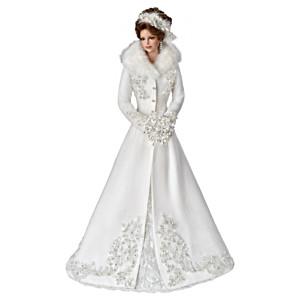 """Cindy McClure """"Winter Romance"""" Porcelain Bride Doll"""