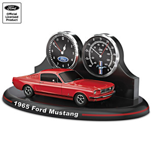 Classic 1965 Ford Mustang Fastback Thermometer Clock