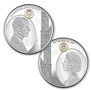 Queen Elizabeth II & Prince Philip 70th Anniversary Coin Set