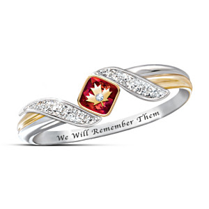 """We Will Remember Them"" Women's Sterling Silver Ring"