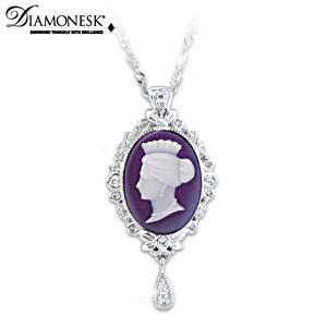 """Cameo Of A Victorian Queen"" Diamonesk Pendant Necklace"