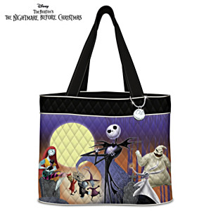 """The Nightmare Before Christmas"" Tote Bag With Jack Charm"