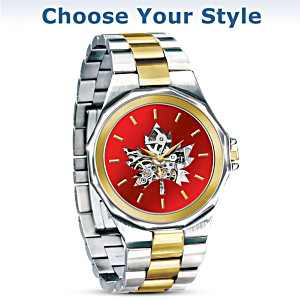 Canadian Pride Men's Stainless Steel Mechanical Watch