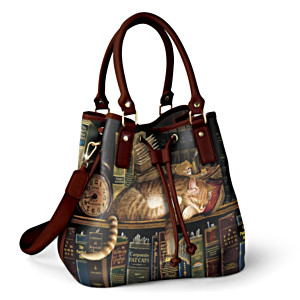 "Charles Wysocki ""Worth The Read"" Bucket-Style Handbag"