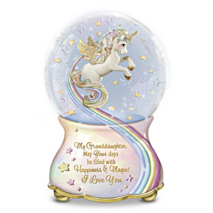 """""""My Granddaughter, You Are Magical"""" Musical Glitter Globe"""