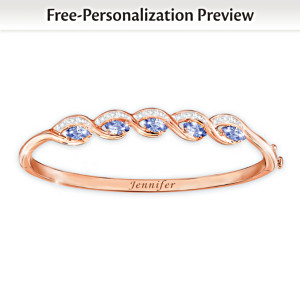 """Beauty Of You"" Personalized Birthstone Copper Bracelet"