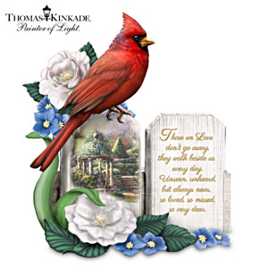 "Thomas Kinkade ""A Love So Dear"" Cardinal Figurine"