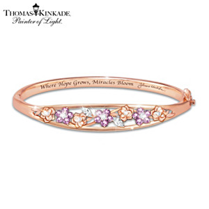 "Thomas Kinkade ""Garden Of Hope"" Women's Copper Bracelet"