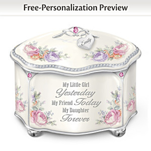 My Daughter Personalized Heirloom Porcelain Music Box