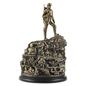 "Canada's ""War Heroes Remembered"" Cold-Cast Bronze Sculpture"