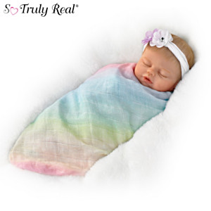 "Violet Parker ""Swaddled So Sweetly"" Lifelike Baby Doll"