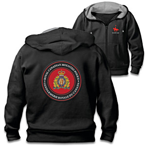 RCMP Men's Hoodie With Crest And Embroidery