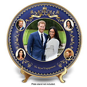 Prince Harry And Meghan Markle Engagement Collector Plate