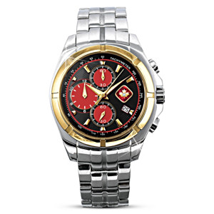"""""""Lest We Forget"""" Men's Stainless Steel Chronograph Watch"""