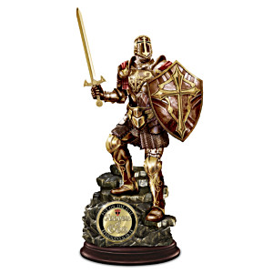 Armour Of God Cold-Cast Bronze Sculpture With Challenge Coin