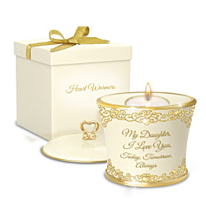 """My Daughter, I Love You Forever"" Candleholder Gift Box Set"