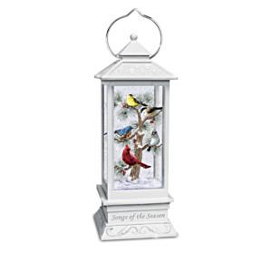 """""""Songs Of The Season"""" Illuminated Snowglobe Songbird Lantern"""