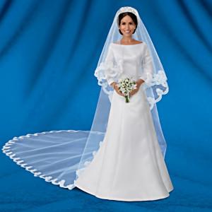 The Meghan Markle Royal Wedding Porcelain Bride Doll