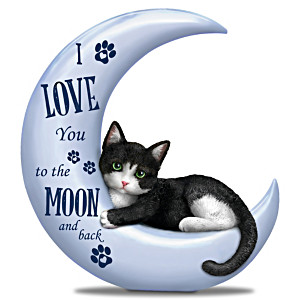 """Blake Jensen """"I Love You To The Moon And Back"""" Cat Figurine"""