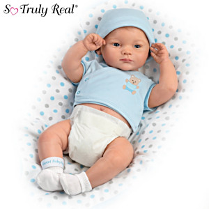 """""""A Little One To Love"""" Anatomically Correct Baby Boy Doll"""