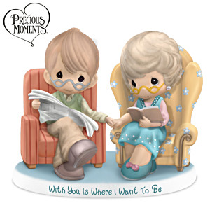 """Precious Moments """"With You Is Where I Want To Be"""" Figurine"""