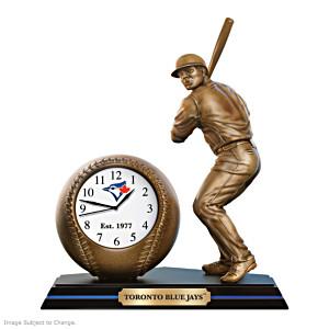 Toronto Blue Jays Cold-Cast Bronze Desk Clock