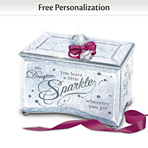 """My Daughter, Sparkle And Shine"" Personalized Music Box"