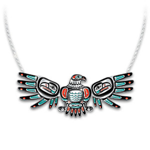 """Sacred Spirits"" Eagle-Shaped Necklace With Moving Wings"