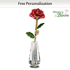I Love You Today, Tomorrow, Always Real Rose Centrepiece
